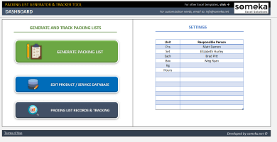 Packing List Generator & Tracker