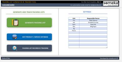 Packing List Generator & Tracker