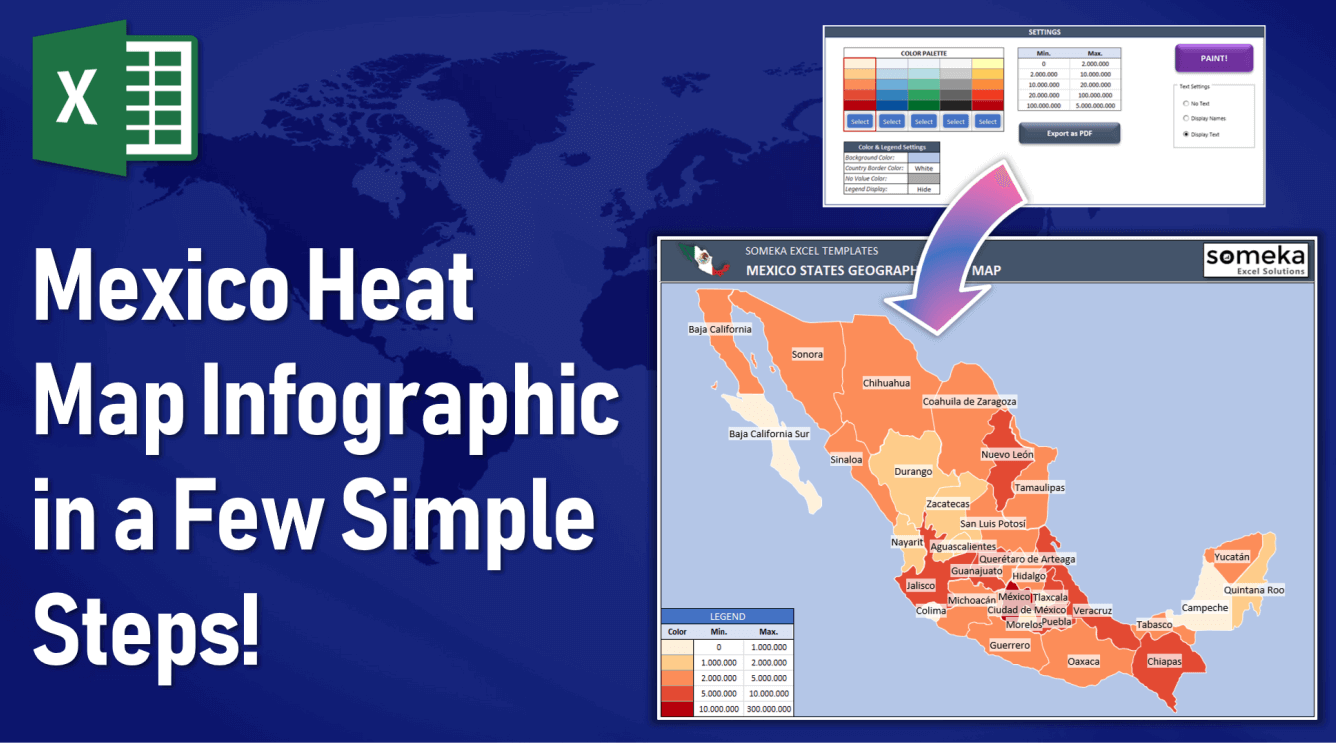 Mexico Heat Map Infographic In A Few Simple Steps!