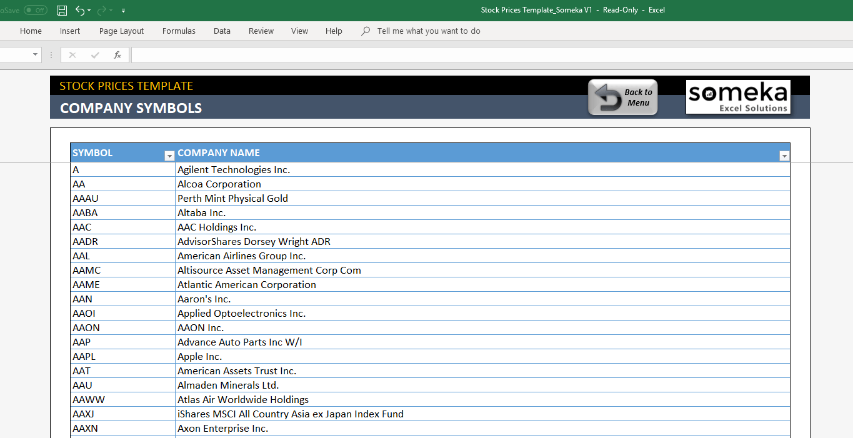 Excel Stock Price Calculator