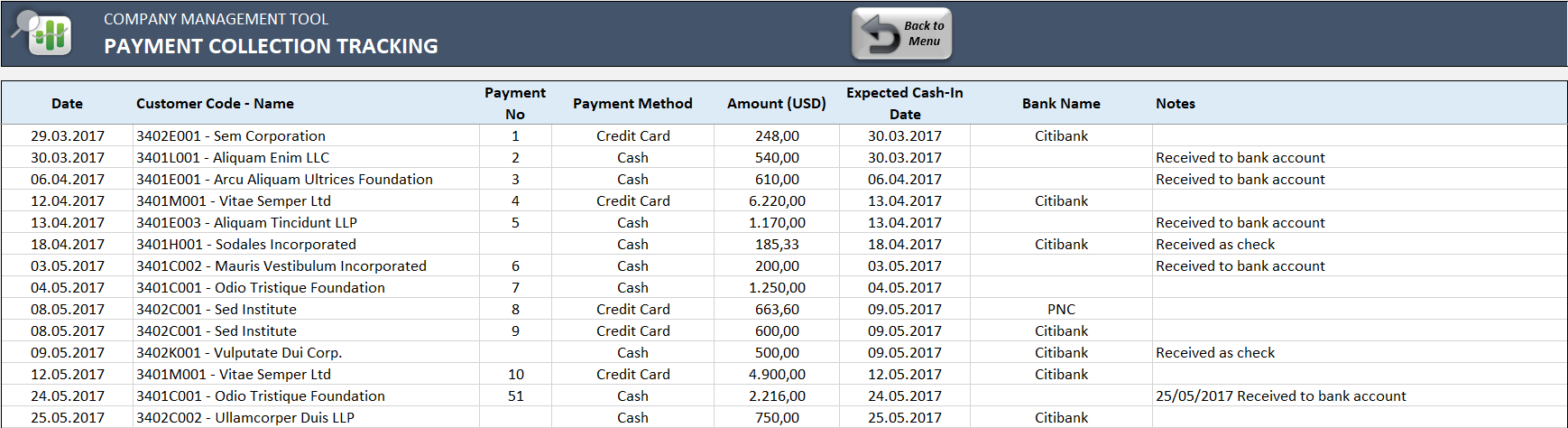 Small-Business-ERP-Template-13-Payment Collection Tracking
