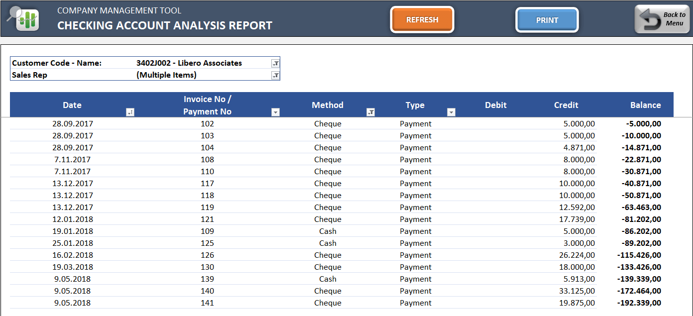 Small-Business-ERP-Template-17-Checking Account Analysis Report