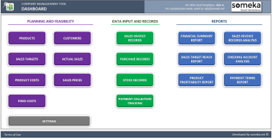 Small Business ERP Template For Trading Companies