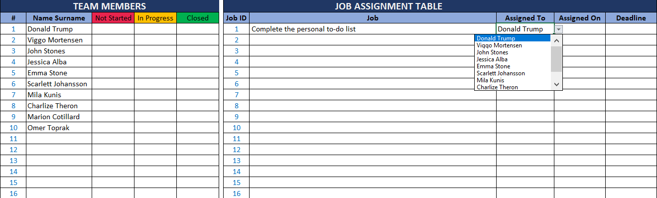 team to do list template