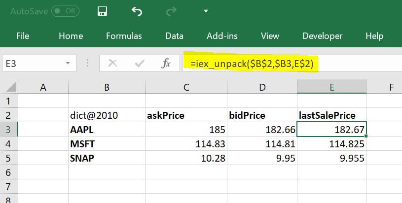 A Real Time Stock Quotes In Excel Using Python