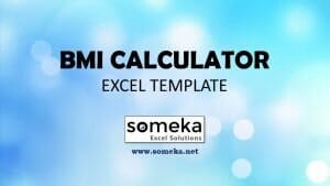 BMI Calculator - Someka Excel Template Video
