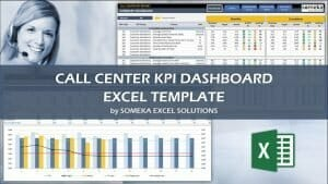 Excel Call Center KPI Dashboard Template Video