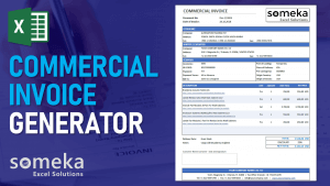 Commercial Invoice Generator - Someka Excel Template Video