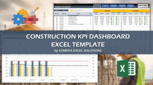 Construction KPI Dashboard - Someka Excel Template Video
