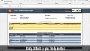 Emergency Contact Form - Someka Excel Template Video