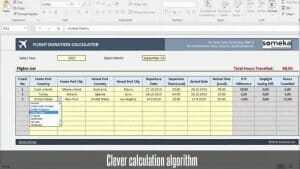 Flight Time Calculator - Someka Excel Template Video