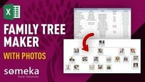 Family Tree Maker with Photos – Premium Version - Someka Excel Template Video