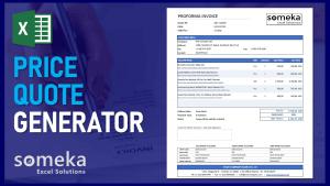 Price Quote Generator - Someka Excel Template Video