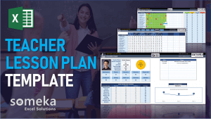 Teacher Lesson Plan Template - Someka Excel Template Video