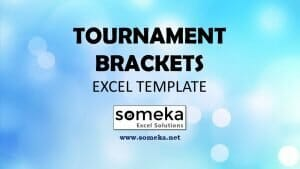 Tournament Bracket Template - Someka Excel Template Video