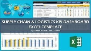 Excel Supply Chain & Logistics KPI Dashboard Template Video