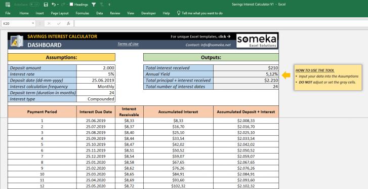 Savings-Interest-Calculator-Someka-SS4