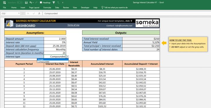Savings-Interest-Calculator-Someka-SS5