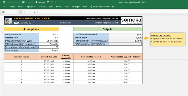 Savings-Interest-Calculator-Someka-SS6