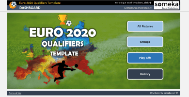 EURO 2020 Qualifiers Template