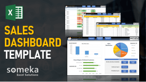 Sales Dashboard Video Cover-Excel Template