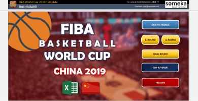FIBA Basketball World Cup 2019 Template