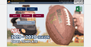 NFL 2019-2020 Excel Template