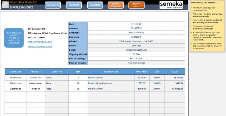 Proforma-Invoice-Excel-Template-Someka-SS1
