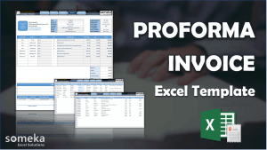 Proforma Invoice Template - Someka Excel Template Video