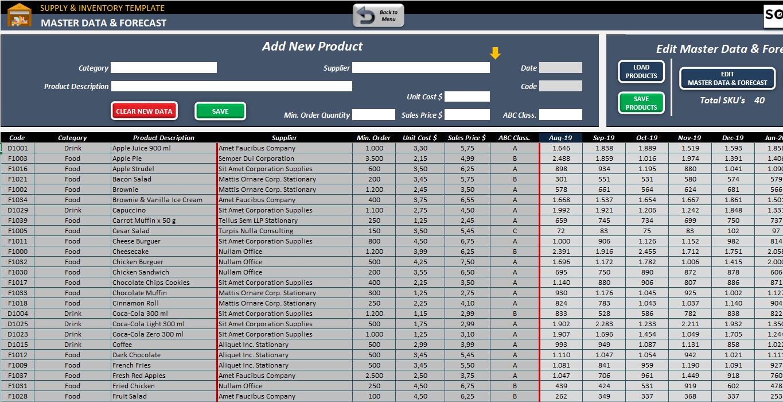 supply  u0026 inventory planning template