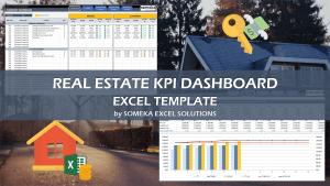 Real Estate KPI Dashboard - Someka Excel Template Video