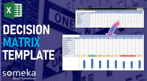 Decision Matrix Template - Someka Excel Template Video