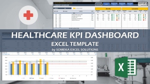 Healthcare KPI Dashboard - Someka Excel Template Video
