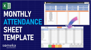 Monthly Attendance Sheet - Someka Excel Template Video