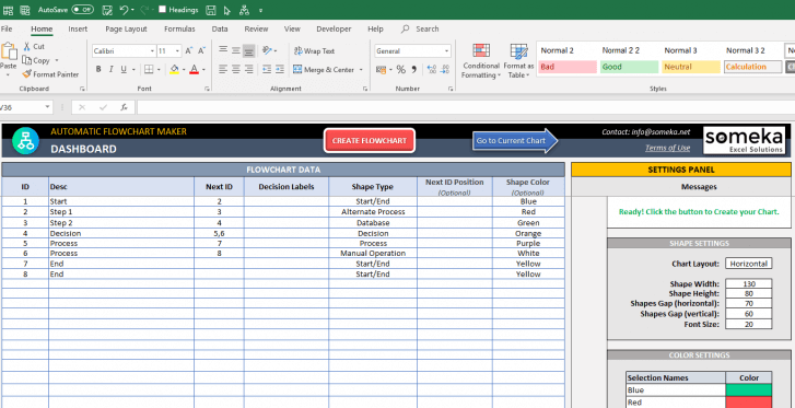 Automatic-Flowchart-Maker-Excel-Template-SS11
