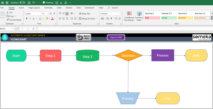 Automatic-Flowchart-Maker-Excel-Template-SS12