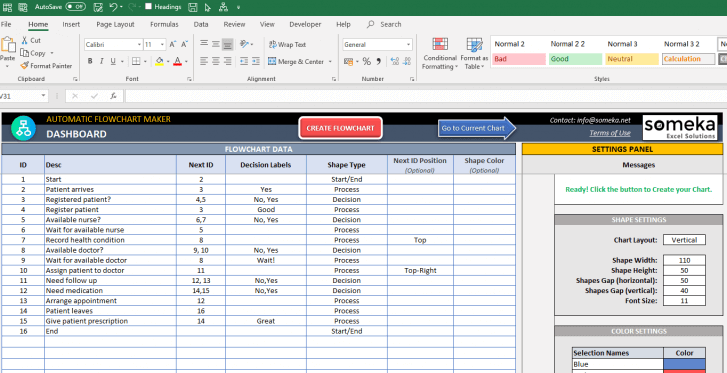 Automatic-Flowchart-Maker-Excel-Template-SS3