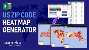 US Zip Code Heat Map Generator - Someka Excel Template Video