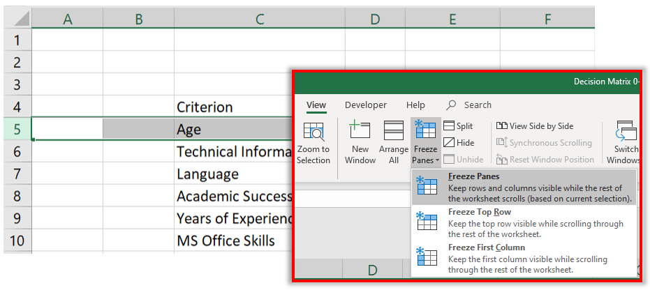 how-to-make-decision-matrix-in-excel-S05