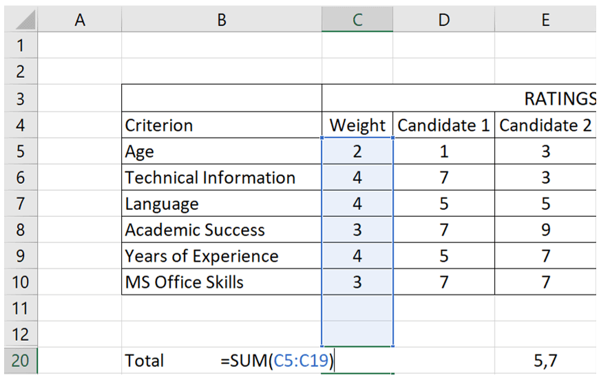 how-to-make-decision-matrix-in-excel-S10