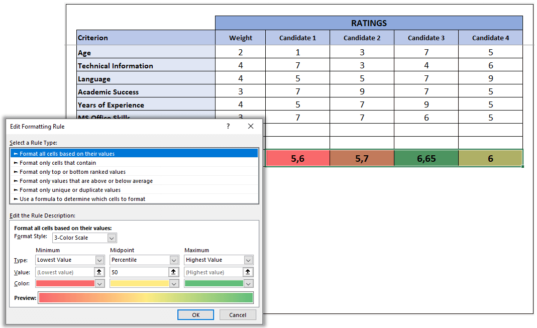 how-to-make-decision-matrix-in-excel-S13