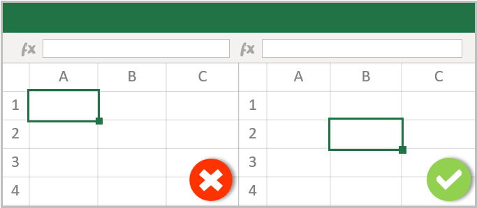 Starting-A1-Cell-in-Excel