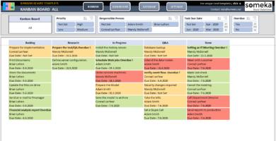 Kanban Board Excel Template