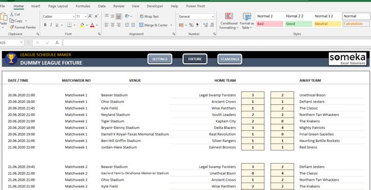 League-Schedule-Maker-Excel-Template-Someka-SS2