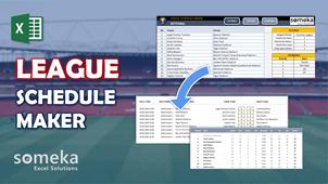 League Schedule Maker Template - Someka Excel Template Video