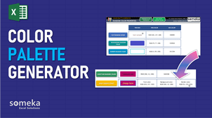 Color Palette Generator Template - Someka Excel Template Video