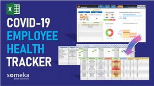 COVID-19 Employee Health Tracker Template - Someka Excel Template Video