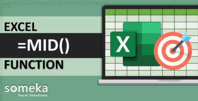 How To Use Excel MID Function
