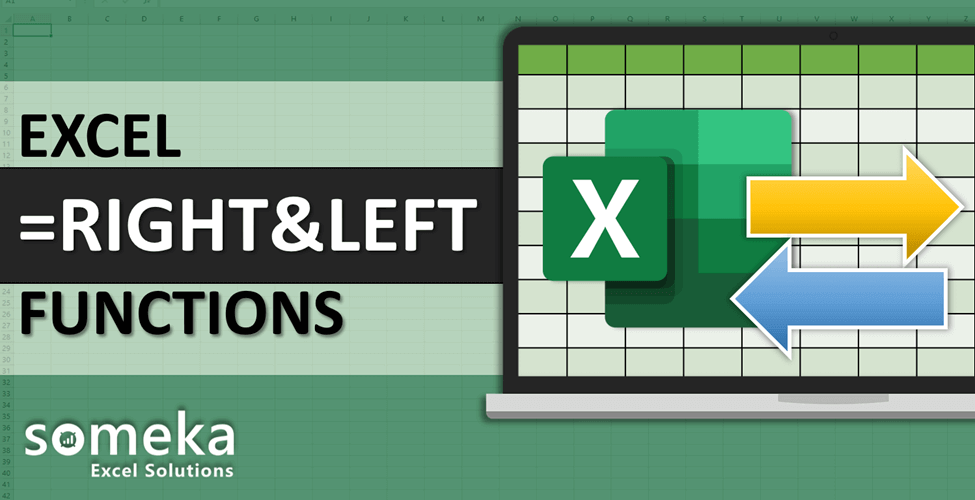 How To Use Excel RIGHT LEFT Functions