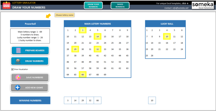 Lottery Simulator-Excel-Template-Someka-SS1